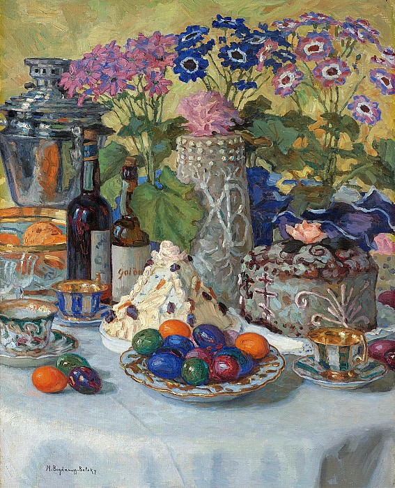 Easter table. Nikolai Petrovich Bogdanov-Belsky
