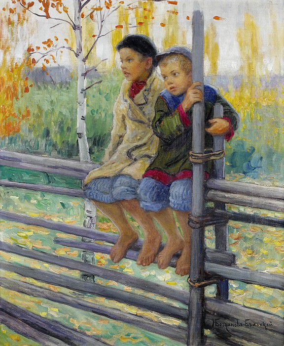Best friends. Nikolai Petrovich Bogdanov-Belsky