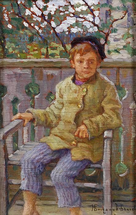 Мальчик на стуле. Николай Петрович Богданов-Бельский