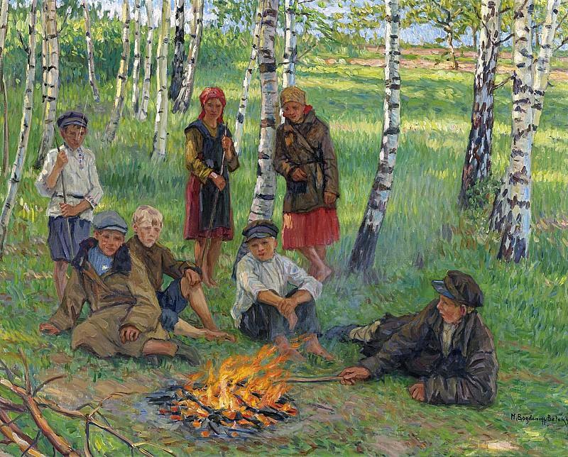 У костра. Николай Петрович Богданов-Бельский