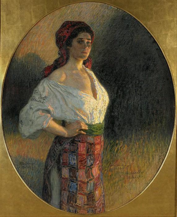 A young sorceress. Nikolai Petrovich Bogdanov-Belsky