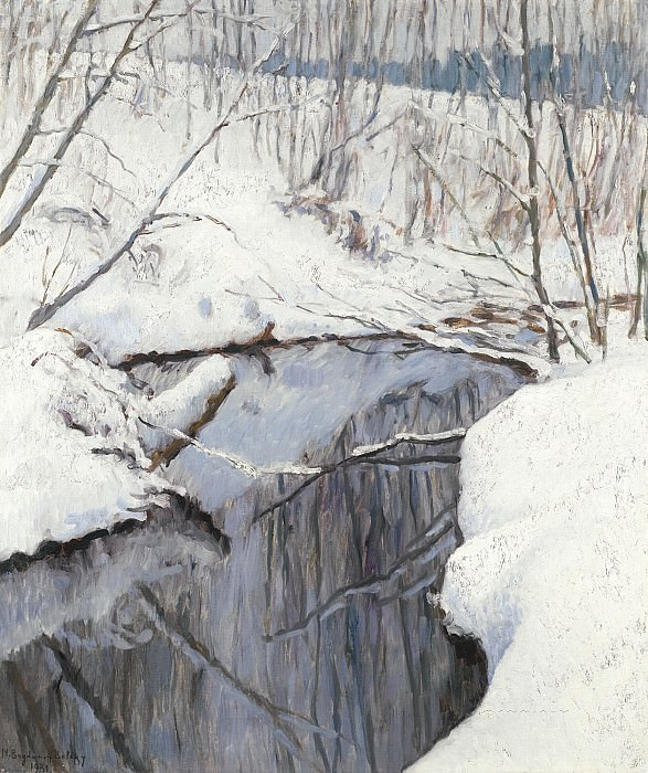 Stream in Winter. Nikolai Petrovich Bogdanov-Belsky