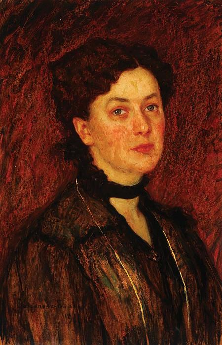 Portrait of a woman. Nikolai Petrovich Bogdanov-Belsky
