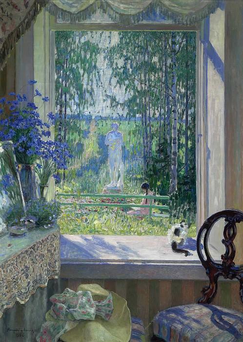 Открытое окно в сад. Николай Петрович Богданов-Бельский