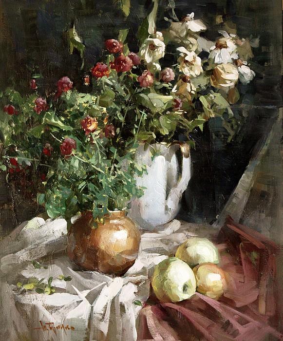 Натбрморт с яблоками-2. Yuri Pryadko