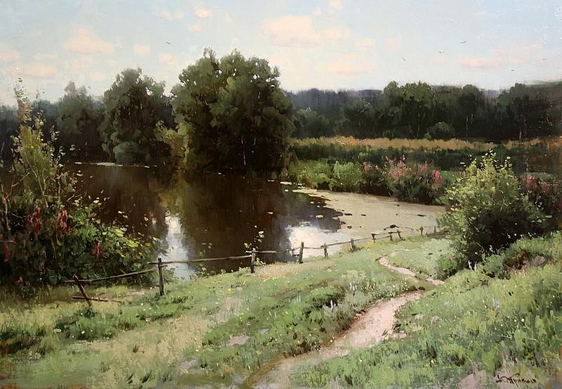 Пейзаж с рекой. Yuri Pryadko
