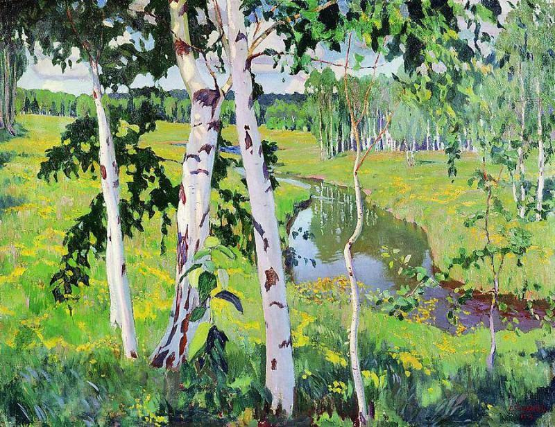Пейзаж с рекой. 1913. Arkady Rylov