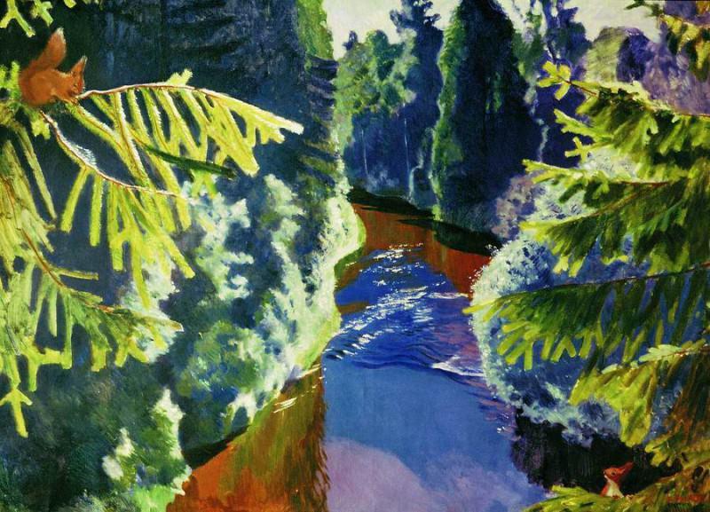 Лесная река. 1929. Arkady Rylov