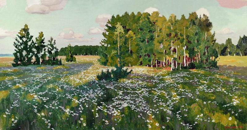 Цветистый луг. 1916. Arkady Rylov