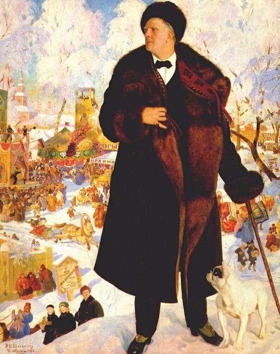 portrait of chaliapin 1921. Boris Kustodiev