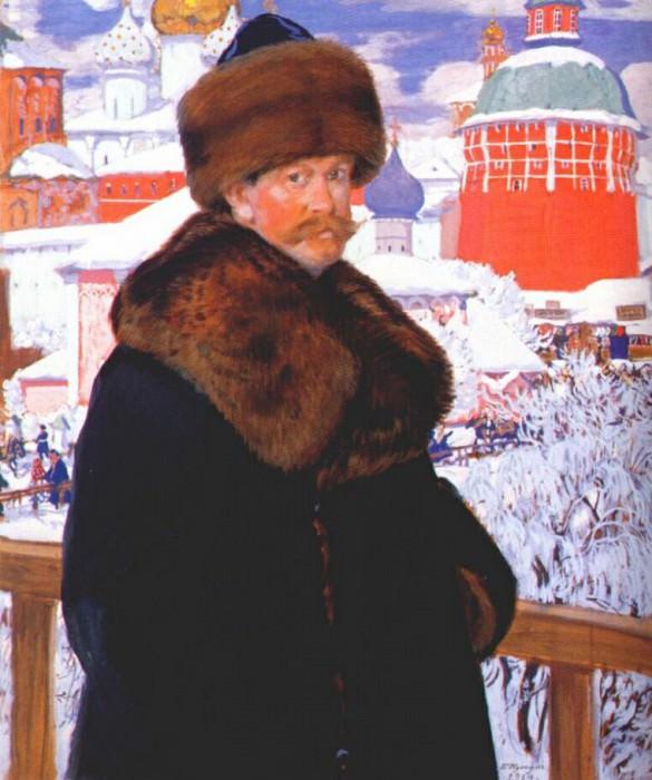 kustodiev self-portrait 1912. Boris Kustodiev