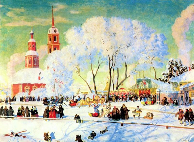 kustodiev shrovetide 1920. Boris Kustodiev