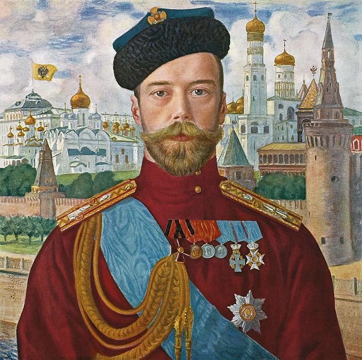 Борис КУСТОДИЕВ 1878 1927 Император Николай II 1915 Холст масло. Boris Kustodiev