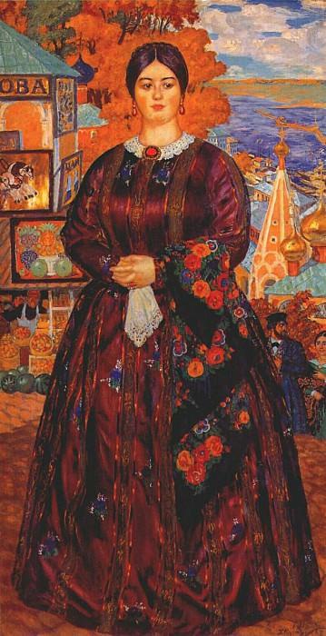 kustodiev merchants wife 1915. Boris Kustodiev