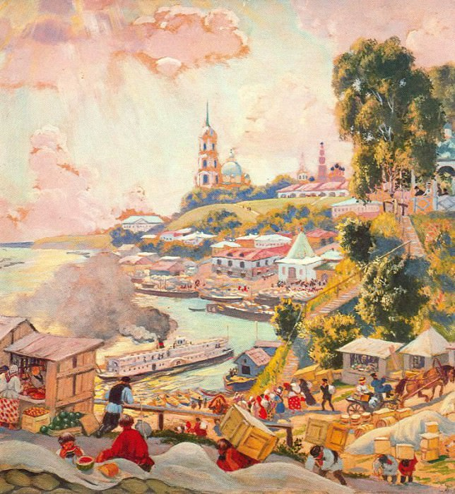 4DPictonfire. Boris Kustodiev