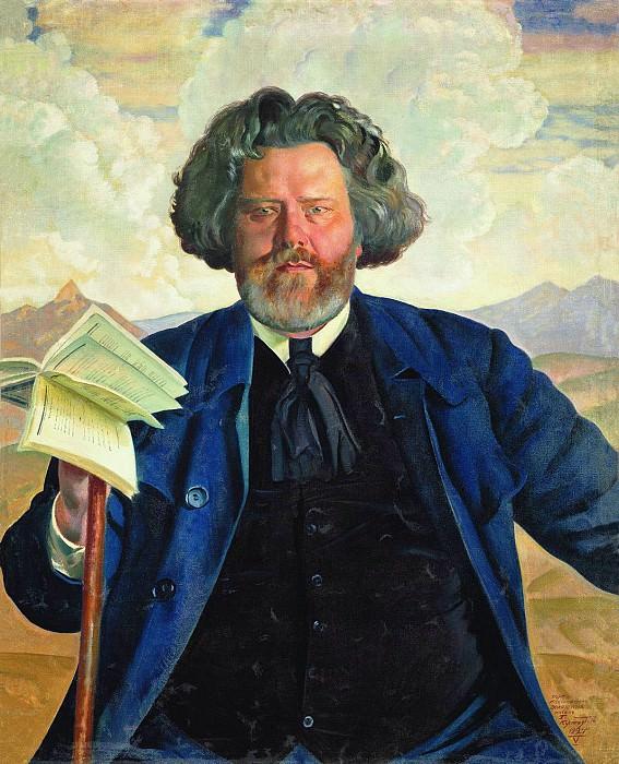 Борис КУСТОДИЕВ 1878 1927 Портрет МАВолошина Холст масло. Борис Михайлович Кустодиев