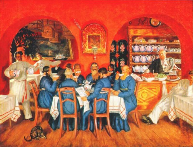 kustodiev moscow tavern 1916. Борис Михайлович Кустодиев