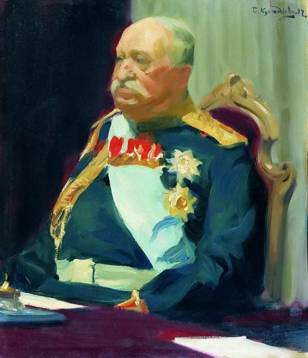 Count N.P. Ignatieff. Boris Kustodiev