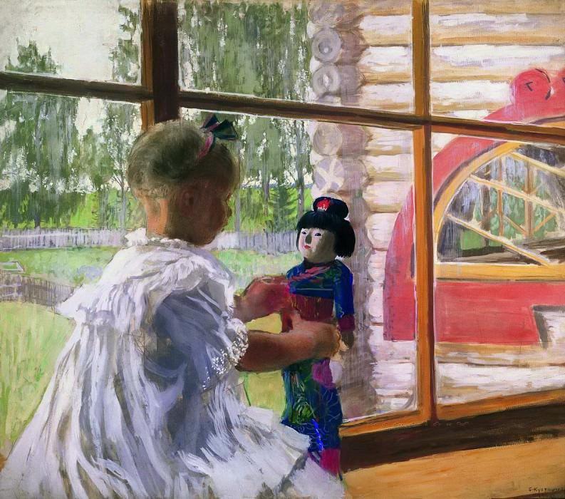 Japanese doll. Boris Kustodiev