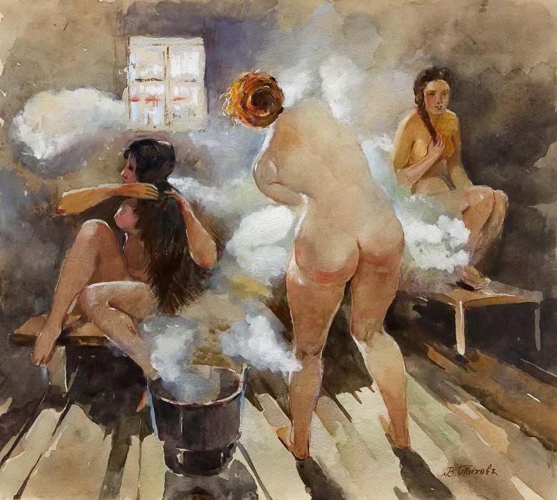 In Russian Banya. Vitaly Gavrilovich Tihov