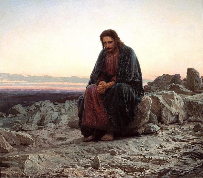Christ in the wilderness. Ivan Kramskoy