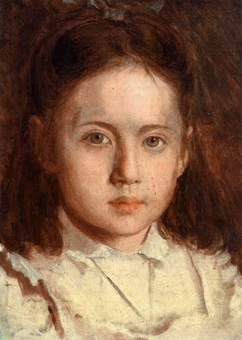 Portrait of Sonya Kramskaya the Artist-s Daughter. Ivan Kramskoy