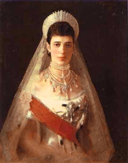 1882 Portrait of the Empress Maria Feodorovna. Ivan Kramskoy