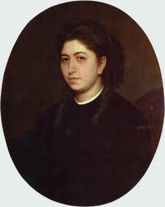 Портрет молодой женщины в черном вельвете. Иван Николаевич Крамской