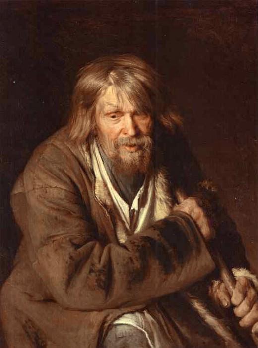 1872 Portrait of an Old Peasant (study). Ivan Kramskoy