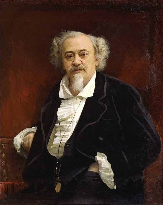 Portrait of the actor Vasily Vasilyevich Samoilov. Ivan Kramskoy