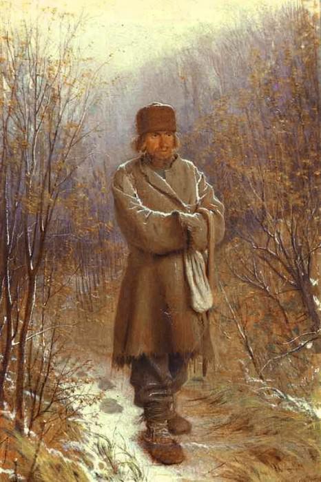 Kramskoi Meditator. Ivan Kramskoy