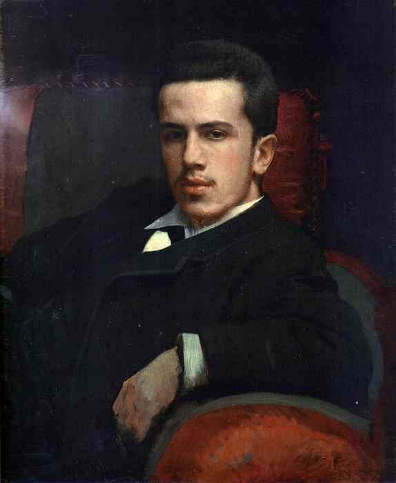 1880 Portrait of Anatoly Kramskoy, the Artists Son. Ivan Kramskoy