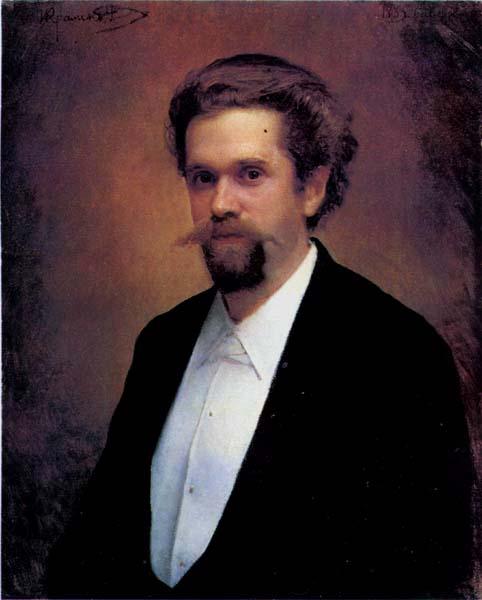 Portrait of the Cellist S.Ya.Morozov. Ivan Kramskoy