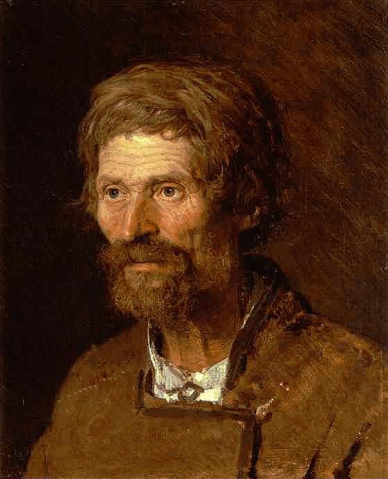Kramskoi Head of an Old Ukranian Peasant. Ivan Kramskoy