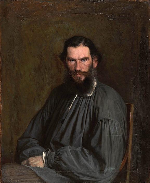 Portrait of the writer Lev Tolstoy. Ivan Kramskoy
