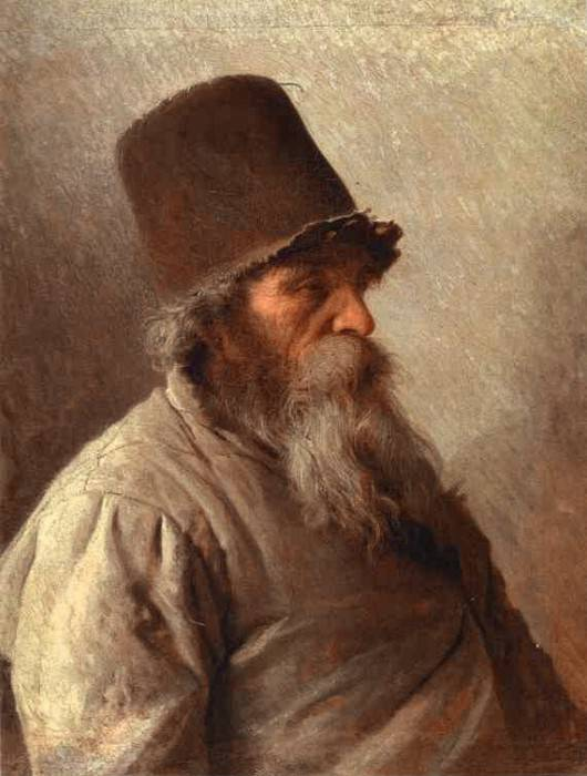 Kramskoi Village Elder. Ivan Kramskoy