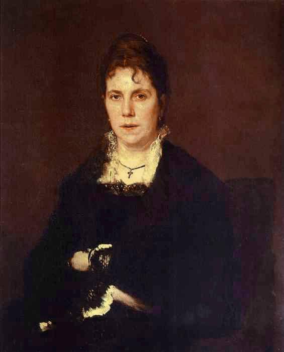 1879 Portrait of Sophia Kramskaya, the Artists Wife. Ivan Kramskoy