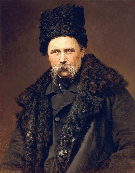 Portrait of Taras Shevchenko. Ivan Kramskoy