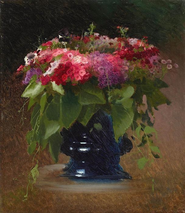 Bouquet of flowers. Phlox. Ivan Kramskoy