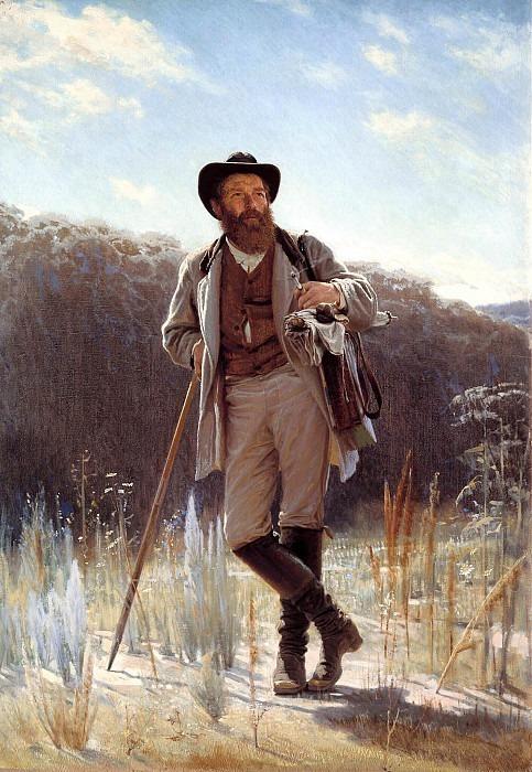 Portrait of the artist Ivan Shishkin (1831-1898). Ivan Kramskoy