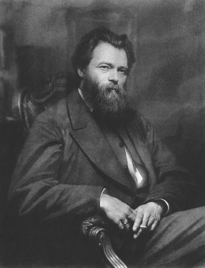 Portrait of the painter Ivan Shishkin. Ivan Kramskoy