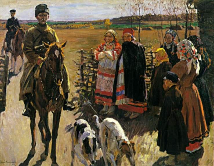 С борзыми едут. 1913. Sergey Vinogradov
