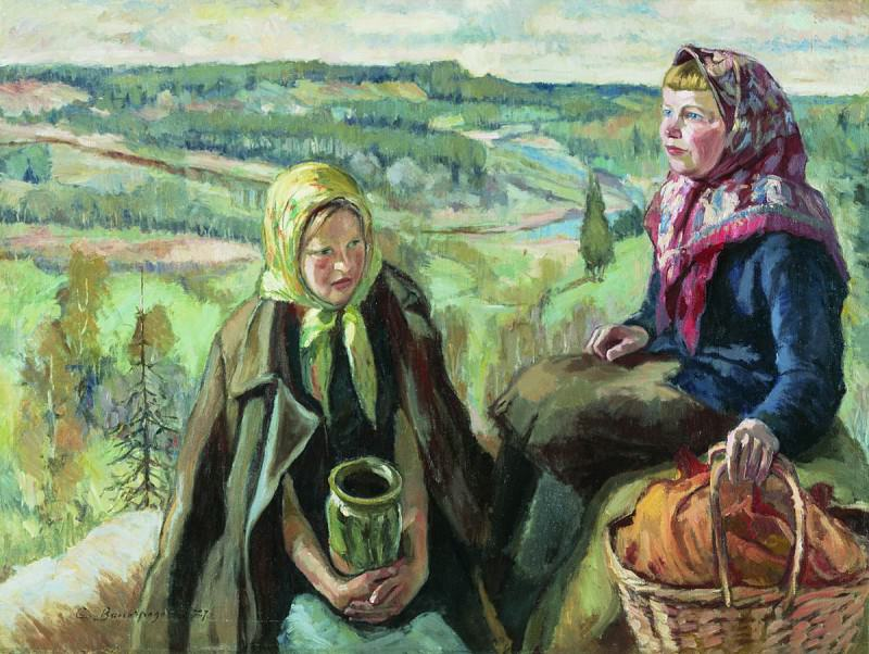 Деревенские девочки. 1927. Sergey Vinogradov