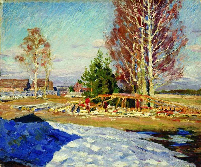 Весенний пейзаж. 1913. Sergey Vinogradov