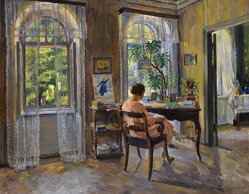 Женщина в домашней обстановке 1924. Sergey Vinogradov