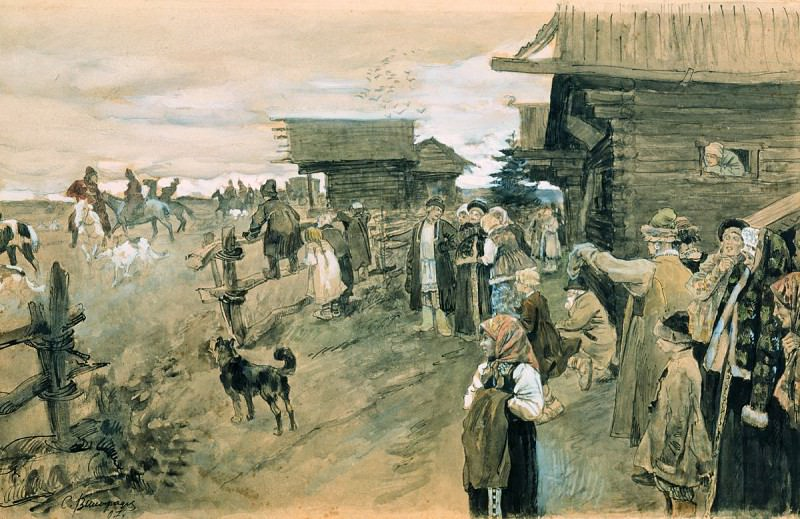 Охота с борзыми. 1907. Sergey Vinogradov