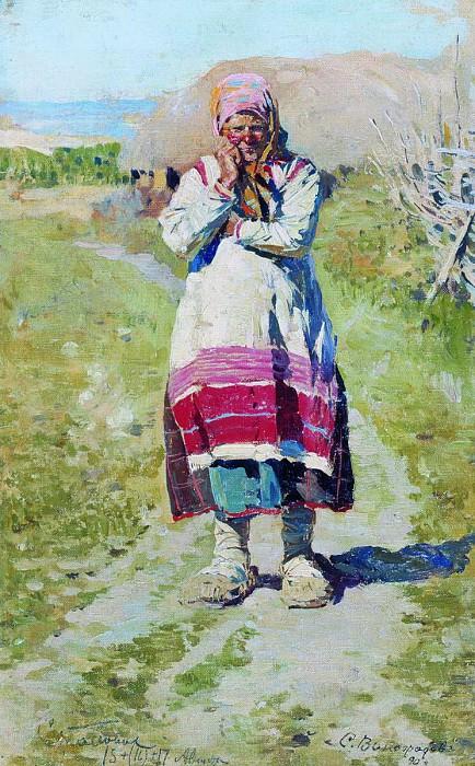 Крестьянка. Этюд. 1890. Sergey Vinogradov