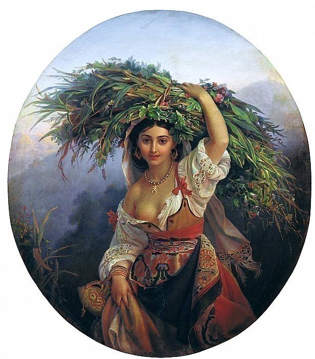 Итальянка с цветами 1853. Pimen Orlov