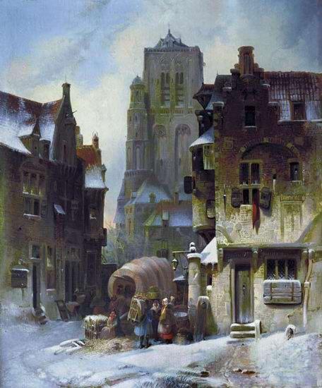 Архитектурный пейзаж 1850-е. Пимен Никитич Орлов