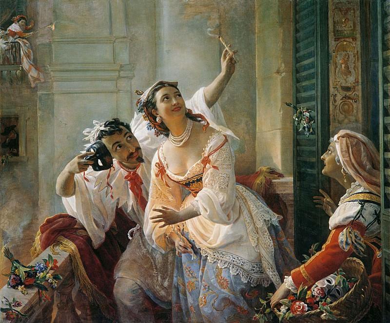 Сцена из римского карнавала 1859. Pimen Orlov